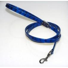 Guinzaglio di Ecopelle Coccodrillo Blu