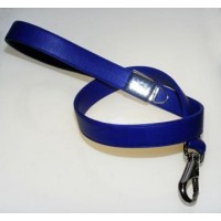 Guinzaglio Ecopelle Nappa Blu